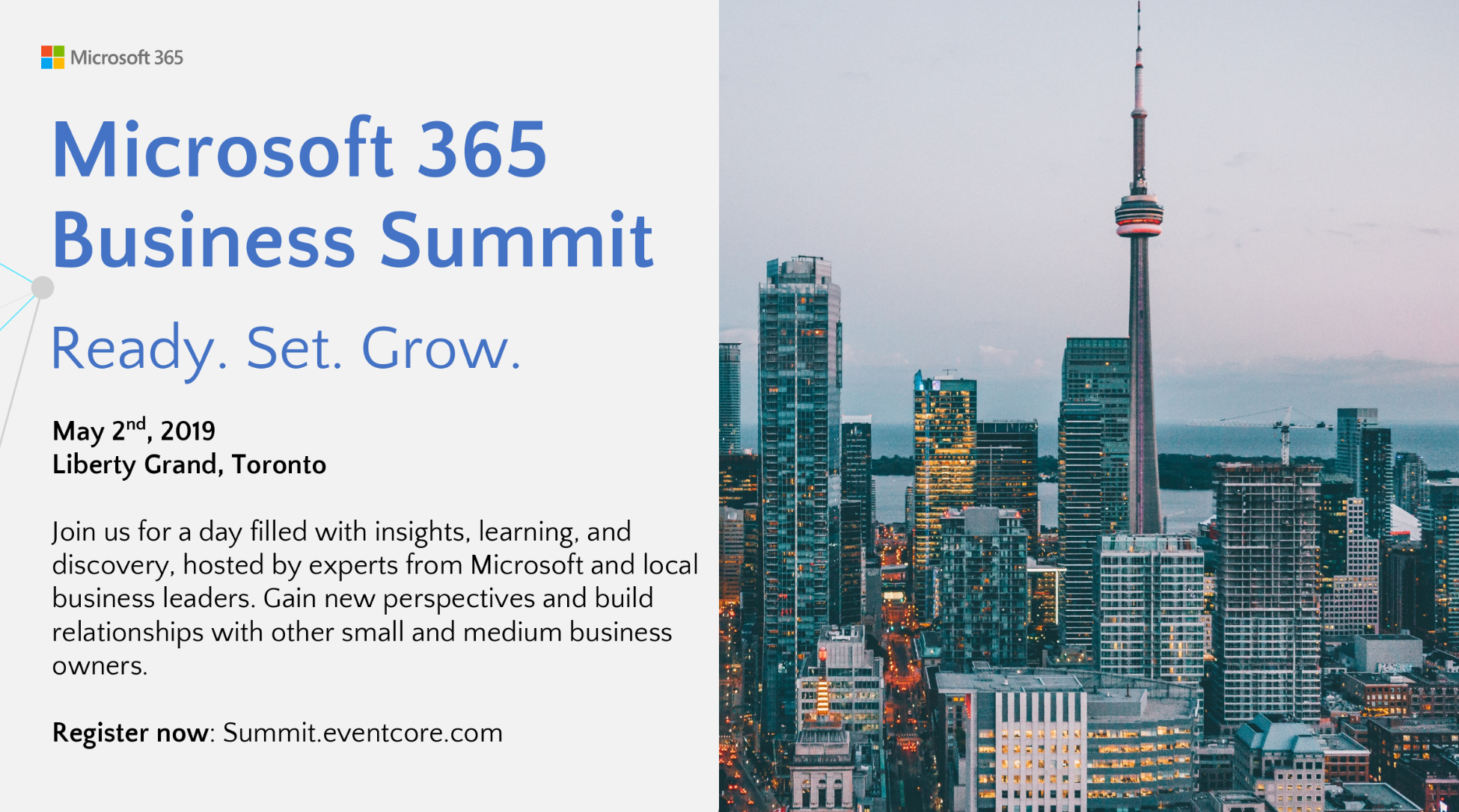 The Microsoft 365 Business Summit is Coming to Toronto - StartUp
