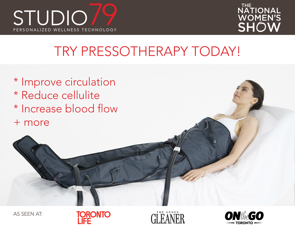 Try Pressotherapy with Studio79 at The National Women's Show